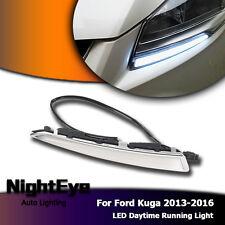 Paar LED Tagfahrlicht Weiß Leuchte Lampen LED DRL Für Ford Kuga 2013-2016