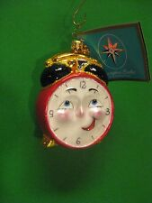 "Radko Wake Up Call 3 1/2"" Clock Ornament 1012462 Vintage Retired NWT"