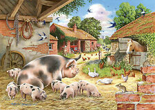 The House Of Puzzles - 500 BIG PIECE JIGSAW PUZZLE - Poppy's Piglets Big Pieces