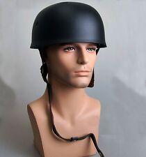 WWII German Military Fallschirmjager M38 Steel Helmet motorcycle Helmet BLACK