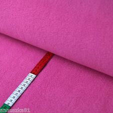 Fleece Stoff Uni Einfarbig Pink Fuchsia - Polarfleece Vlies - Lambskin