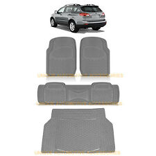CHARCOAL GRAY HEAVY DUTY RUBBER FLOOR MATS CARGO TRUNK MAT for SUBARU TRIBECA