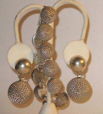 Vintage Taxco Zanfeld S.A. de C.V. Sterling Silver Modernist Bracelet & Earrings