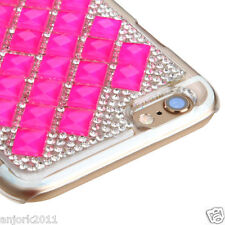 "iPhone 6 (4.7"") Snap Fit Back Cover 3D Bling Gem Case Hot Pink Diamond"
