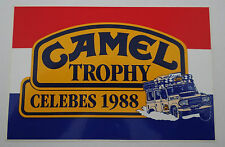 Aufkleber CAMEL TROPHY 1988 Sulawesi LAND ROVER DEFENDER 110 dutch sticker