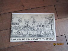 PLAQUETTE 44 pages 2000 ANS DE TRANSPORT PARISIENS 1971 dunlop Selection readers