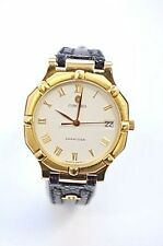 Concord Saratoga Men's 18K Gold Case Leather Watch 50.14.247G