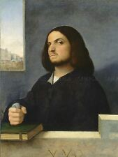 GIORGIONE TITIAN ITALIAN PORTRAIT VENETIAN GENTLEMAN ART PAINTING POSTER BB5506A