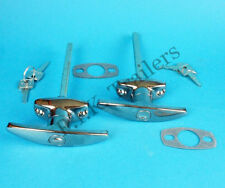 FREE P&P* 2 x Chrome T Handle Door Lock & Gasket for Horse Box Caravan & Trailer