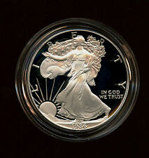 1986 $1 Choice Proof American Silver Eagle Complete With Boxes, COA and Capsule