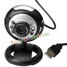 50.0 Mega Píxeles USB 2.0 6 LED video PC cámara webcam micrófono para Skype