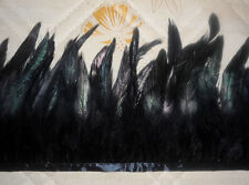 Hackle Feather Fringe Black  1 Code or 5 Code Craft/Sewing/Costume/Millinery /S