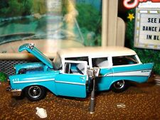 1957 CHEVROLET BEAUVILLE 4 DOOR WAGON LIMITED EDITION 1/64 M2 1950'S CRUISER