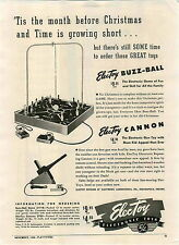 1946 Paper Ad  Electoy Electronic Toys Cannon Buzz Ball Jeff Lee Golf Sets