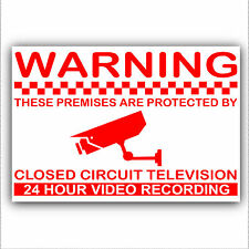 1 x Premises are Protected by CCTV 24hr Recording Camera Sticker-Security Sign