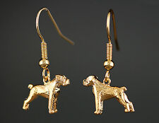 Boucles d'Oreilles Chien BOXER en 3D - Earrings with BOXER DOG