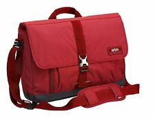"STM Laptop Notebook Messenger Bag 15"" Carry Shoulder Case Water Resistant Red"