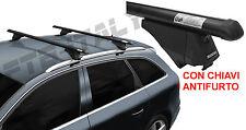 Barre portatutto auto Suzuki Sx4 S-Cross dal 2013- alluminio nere Tiger Menabo
