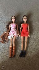 2x Brunette Barbie Dolls - Fully Clothed - Collector/ Toy