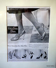 Original Vintage America's Winning Fashion Ticket Red Cross Shoes High Heels