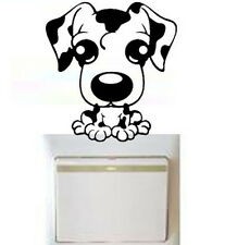 Elegant Puppy Dog Switch Light Funny Wall Decal Vinyl Stickers DIY ~1pc