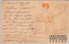 CARTOLINA d'Epoca - PUBBLICITARIA :   TORINO 1905 - CHIOCCOLATO TALMONE Terzi