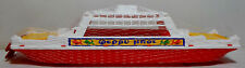 GREEK VTG APERGIS 70's PLASTIC 17'' FERRY BOAT SHIP WATER TOY FLOATS MIP RARE A