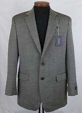 Men's RALPH LAUREN Khaki Black Herringbone Wool Jacket Blazer 42 L 42L NWT NEW