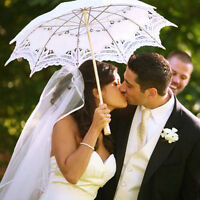 New Lace Cotton Embroidery Wedding Umbrella Sun Parasol Bridal Parasol Umbrella