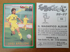 SUPERCALCIO 1996 1997 96 97 n 63 LUIGI APOLLONI Figurina Sticker Panini NEW