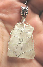 Cat's Eye Petalite Sterling Silver Hand Wrapped Crystal Angel Pendant #10 Power!