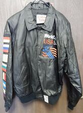 Montana Toons Vintage 1994 World Cup USA Leather Jacket By Excelled Mens XL Rare