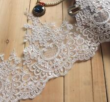 Embroidery Bridal Lace Edging Corded Lace Trimming Sequin Wedding Veils Trimming