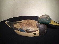 Tom Taber Carved & Signed Duck Decoy Carving Free Shipping