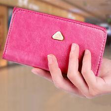 Women Smart Cell Phone Cute Snap Clutch Wristlet Strap Flip Purse Wallet Case