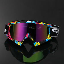 Motocross Motorcycle Off-Road Street Dirt Bike ATV Racing Goggles Graffiti Frame