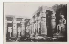 Luxor Temple General View of Statue of Ramses II Egypt Vintage RP Postcard 159a