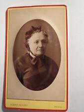 Paris - 1878 - Frau Balet im hohen Alter mit Haube - Portrait / CDV