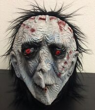 Costume Mask Zombie Stitches Corpse Creepy Scary Spooky Halloween  Hair Red Eyes
