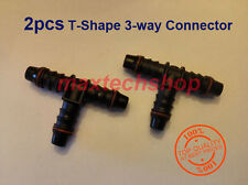 "2Pcs 5/16"" 8mm-3/8"" 10mm Tee 3-Way Union Fuel Line Connector Coupler Tubing Hose"