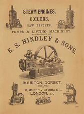 Hindley Bourton Dorset Steam Engine Pump Catalog 1905