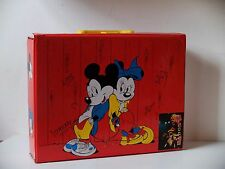 Disney Mickey Mouse suitcase comic TRUE VINTAGE 80s Kassetten Reise Kinderkoffer