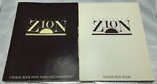 1980 Zion LDS Mornon Church Musical Play Production Piano Sheet Music 2 Book Lot