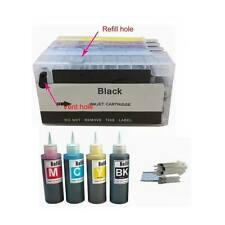 4 PK COMBO Empty Refillable cartridge for HP 711 Designjet T520 plus 4x100ml ink