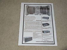 Pioneer Tube Amplifier HF-90MH Ad,1 page, 1962, SM-Q300, SM-B201, Specs, Info