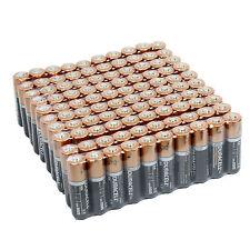 100 Duracell AA Alkaline Batteries MN1500 1.5V Bulk Lot Fresh Exp. 2026