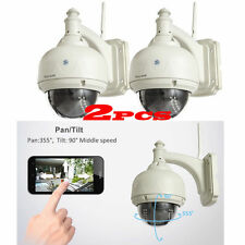 2X Wireless IP Camera Dome IR Night Vision WiFi IR-Cut Outdoor Security Cam WP