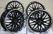 "18"" CRUIZE 190 BLACK POLISHED STAGGERED DEEP DISH BIG BRAKE 18 INCH ALLOY WHEELS"