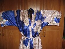 Kimono Wrap Robe Women's Size XL SHANGHAI SOHO BLUE AND WHITE  FULL LENGTH