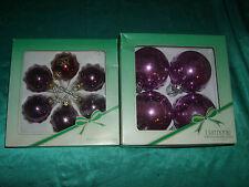 10 alte Christbaumkugeln Glas violett, lila Konvolut Weihnachtskugeln 5 und